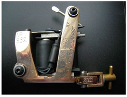 Wholesale PAUL ROGERS BRONZE TATTOO MACHINE HYBRID TATTOO MACHINE WITH CERTIFICATE AND BOX