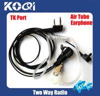 Wholesale 10pcs freeshipping PIN PTT walky talky earphone earpiece Headset for TK3207 TWO Way Radios