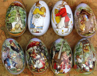 Easter chicken - Easter eggs with rabbit and chicken pattern egg box for candy and chocolate