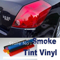 Wholesale Auto Car Smoke Fog Light HeadLight Taillight Tint Vinyl Film Sheet Car Sticker