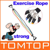 Wholesale Latex Resistance Bands Fitness Exercise Tube Rope Set Yoga ABS Workout H8329 Freeshipping Dropshippi