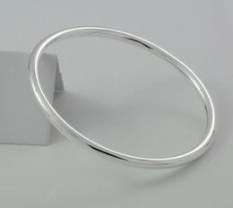 100% New 925 Sterling Silver Bracelet Bangle Fashion Silver Fine Jewelry Silver Charm Bracelet For Women Valentines Gift HF