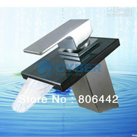 0 Contemporary Deck Mounted Waterfall Glass Faucet Tap Mixer Kitchen Basin Bathroom Faucet Vanity Sink 2472