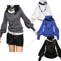 Wholesale 2014 new fashion Women s Lantern Long sleeve T shirts Four Colors Agood