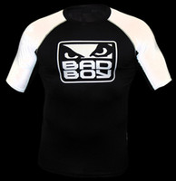Wholesale MMA BAD B0Y Rashgunad Black white t shirt men s short sleeve t shirt