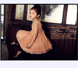 Girls Lace Yarn Dresses Korean Youngster Dresses Children's Clothing