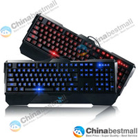 Wholesale AULA Dragon Tooth USB Wired Backlit LED Illuminated Ergonomic Gaming Multimedia Keyboards