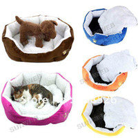 Wholesale 5 Colors Pet Dog Puppy House Cat Soft Fleece Warm Bed Plush Cozy Nest Mat Pad