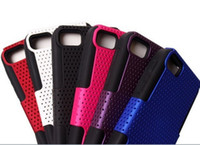 Wholesale New Arrival Dual Layer Hard Plastic Mesh Dots Silicone Rubber Case Cover Skin for Blackberry BB Z10