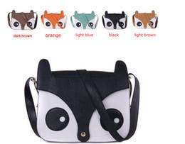 Wholesale Cheap Brown Bags - Cute little fox messenger bag Retro shopping bags fashion cheap The fox aslant bag