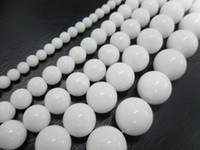 Wholesale High Quality White Jade mm Strands Loose Round Beads Jewelry Making Strand