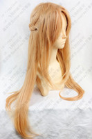Blue asuna wig - HOT Sell Sword Art Online Asuna Yuuki long cosplay wig cm