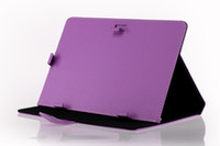 Wholesale US Stock Inch Tablet Case PU Leather Folding Folio Wallet Shape Stand Smart Cover Cases for Inch Tablet PC