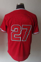 Men 48 Jersey 2013 New Baseball Jerseys Men`s #27 Mike Trout Red Baseball Jerseys Mix Order