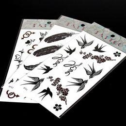 Temporary Tattoos 50 pcs lot New Tattoo Stencils Tattoo Designs Free Waterproof Arm Chest Tattoos 206*105mm