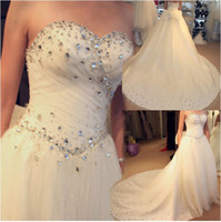 Wholesale Korean wedding dress bridal gown wedding dress strapless luxurious palace with the tail
