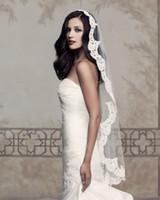 One-Layer applique lace trim - 2013 Vintage Bridal Lace Trim Veils Mantilla Wedding Veils Bridal Veils For Wedding Dresses