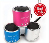 Wholesale Z portable mini speaker round card audio MP3 player U disc audio