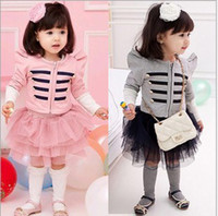 Girls Suits Rome Wind Shrug Long- Sleeved Jackets + Cake Yarn...