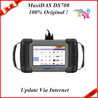 Wholesale 2013 top sale auto diagnostic tool100 original maxidas ds708 update via internet with high quality