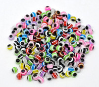 Wholesale Mixed Multicolor Evil Eye Stripe Resin Beads mm