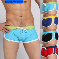 Wholesale 2013 SEOBEAN Hot Sexy Men s Swimwear with Tie Low Waist Bathing suits Swim shorts for Men S90628