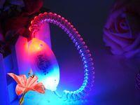 Wholesale Solid color LED fiber optic luminous hip hop wrist strap armlets pet collars simplehigh bright new