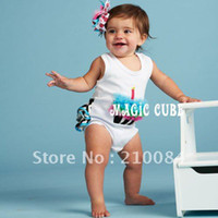 Wholesale Baby birthday cake model romper zebra lace rompers bodysuits baby one piece
