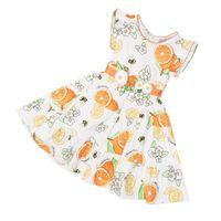 Wholesale Amissa female fruit series cotton fruit pattern one piece dress