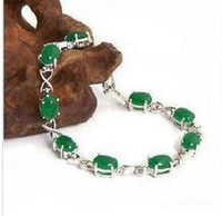 Wholesale Mosaic jade white gold bracelet