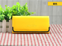 cheap wholesale purses - 2013 Lady Wallet Purse Long Style Fold Patent Leather Candy Color Cheap