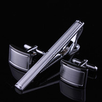 Wholesale Cufflinks tie clip set nail sleeve cufflinks free gift box