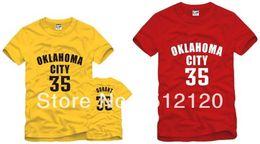 Wholesale NO Kevin Durant Thunder Basketball clothes baketball Tshirt Color cotton