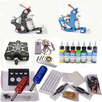 2 Guns Professional Kit hot sale Professional tattoo kit with 2pcs tattoo machine gun and 7pcs tattoo inks free shipping