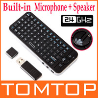 Wholesale iPazzPort Fly Air Mouse Voice Wireless Remote Keyboard Combo RF G Mini Bulit in Mic amp Speaker for
