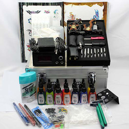 Wholesale New style completed tattoo kit with rotary tattoo machines guns for tattoo suppliers