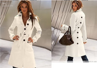 Wholesale Korea Women s Before and after the open cut Winter Long Coat Clothes Outerwear trench coat