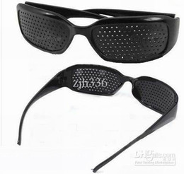 Wholesale 5 Pieces Black Unisex Vision Care Pin Hole Eyeglasses Pinhole Glasses Eye Exercise Eyesight Improve