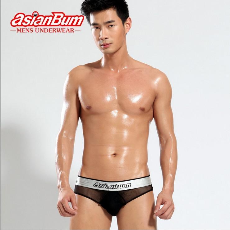 Asianbum Brand Men's Underwear High Quality Transparent Mesh Sexy ...
