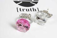 Wholesale Imitation Diamond Ring Key Chain Bridal Shower Gift Bling Diamond Heart Key Chain