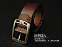 Wholesale Men Luxury Belt Genuine Leather First Layer Cowskin Designer Brand Formal Office Wide Belts
