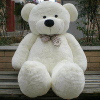 120cm Teddy Bear Plush Toy White Color Lovely Gift Stuffed T...