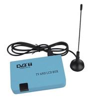 Wholesale Digital DVB T Receiver Tuner Free View TV Box VGA AV TV CRT LCD Monitor D2231L