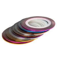 Wholesale 10 Color Striping Tape Line Nail Art Decoration Sticker Brand New set H00634
