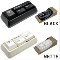 Wholesale 50pcs Creative office Mini keyboard Stationery Set Puncher stapler keyboard MYY2704
