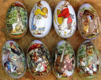 Wholesale Easter eggs with rabbit and chicken pattern egg box for candy and chocolate