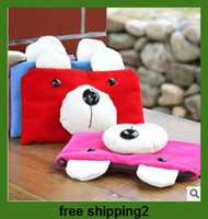 Wholesale Cartoon simple and honest bear flannel phone package bag purse admission package