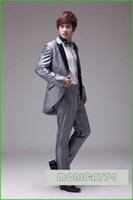 Reference Images Linen Summer 2013 HOT! Groom Tuxedos Set(Suits+Pants+Bow-Tie+Girdle+Dust Cover),MEN Swallow tail prom party suits