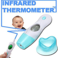 Wholesale Baby Adult Digital LCD Ear Forehead Ambient Clock IR Infrared Thermometer