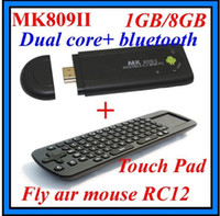 Wholesale MK809 II Android RK3066 TV Box Dual Core Mini PC with RC12 Touch Pad Keybord GHz Cortex A9 G